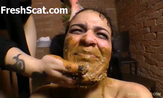 Girl Dominated And Forced To Eat And Swallow Shit