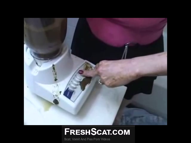 Busty Brunette Girl Shits In A Blender And Makes A Scat Smoothie Using Real Shit