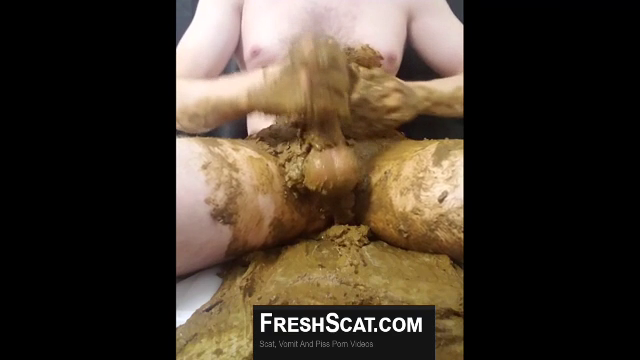 Guy Opens His Loaded Diaper And Smears Shit All Over His Body And Cock On Webcam MALE SCAT