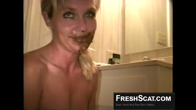 Hot Blonde Gets Spoon Fed Shit On Live Webcam Before Her Boyfriend Blasts A Cumshot On Her Cute Face