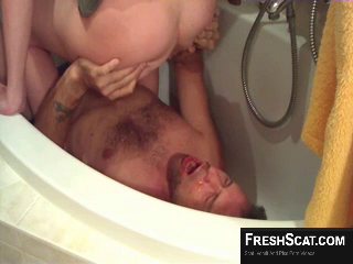 Hot Scat Enema Goes Well In The Shower On Live Webcam Recording