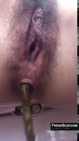Beautiful Girl With Hairy Pussy Takes A Messy Dump On Live Webcam