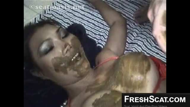 Force Feeding Kinky Asian Girl Shit Piss And Cum During Drug Induced Live Recorded Scat Scene