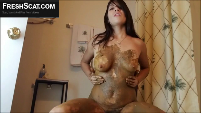 One Of The Hottest Scat Girls Ever To Make A Scat Porno Gets Kinky With Her Milk Filled Tits Too