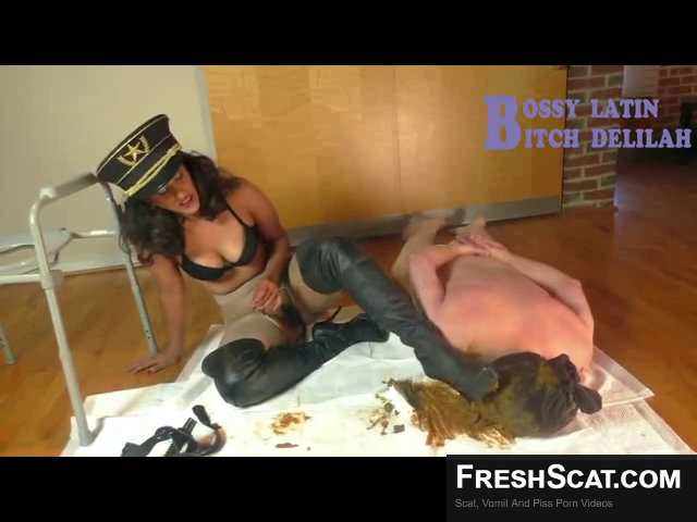 Toilet Slave Loves Being Used As A Toilet And Then Treated Like Shit Afterwards During Live BDSM Scat Scene