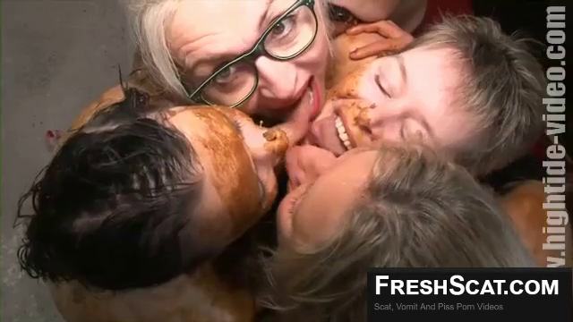 A Group Of Scat Lesbians Get Together To Play Together In Epic Scat Webcam Scene