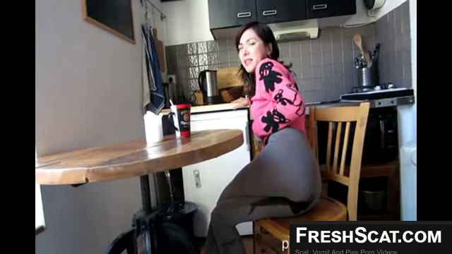 Having A Tea And Pissing Herself Just Because She Can On Live Cam