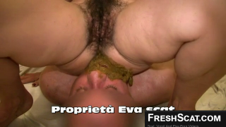 Girl With Hairy Pussy Shits All Over Scat Slaves Face On Webcam