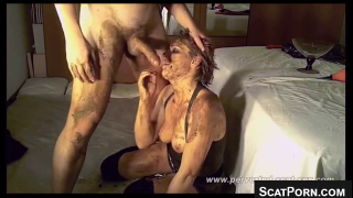 Gorgeous Scat Wife Gets Covered In Shit During Amazing Scat Sex Scene With Her Husband On Webcam