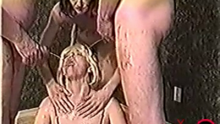 Vintage Scat Gangbang Looks Like Fun Outdoors