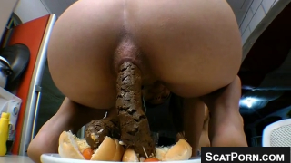Girl Takes A Huge Shit On Webcam And Makes Scat Filled Hot Dogs