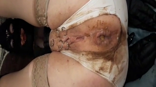 Sexy Woman Shits Enema Out Of Her Dirty Ass On Webcam And Gets Messy
